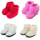 Girls Boys Fashion Handmade Warm Shoes Crochet Baby Knit Woolen High-top Boots