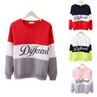 Women's Autumn Winter Crew Neck Printed Letters Different Casual Sweatshirt