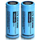 4x ICR 18500 1400mAh 3.7V Rechargeable Li-ion Battery For LED Torch Falshlight