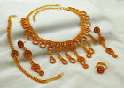 Goldplated Traditional Indian Wedding Party Necklace Set Ethnic Bollywood Jewelr