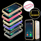 LED Flashing Shockproof Transparent TPU Case Cover For Apple iPhone 6/6s 4.7''