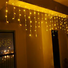 3.5M 96LED Icicle Hanging Curtain XMAS Christmas String Fairy Lights Party Decor