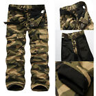 Men Warm Combat Fleece Camo Cargo Pants Army Work Trousers Winter Pant Windproof
