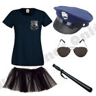 LADIES NEW YORK AMERICAN POLICE WOMAN COP FANCY DRESS COSTUME HEN PARTY.