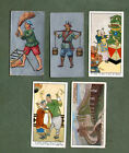 5 VERY OLD CHINA cigarette cards Chinese tobacco inserts rare  #778
