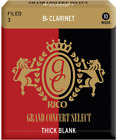 RICO GRAND CONCERT SELECT THICK BLANK Bb CLARINET REEDS 2.5 - 10