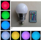 10W E27 16 Color RGB Change LED Party Magic Light Bulb Wireless Remote Control