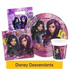 DISNEY DESCENDANTS - Birthday PARTY RANGE (Napkins, Plates, Cups, Tablecover)