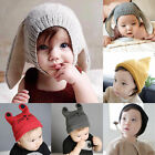 Cute Toddler Girls Boys Crochet Earflap Beanie Hat Newborn Baby Kids Cat Cap New