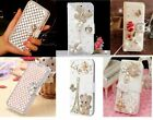 Luxury Bling Crystal Wallet Leather Case  For Telstra Slim Plus / ZTE Blade L5