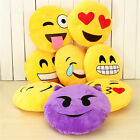 "Emoji Emoticon Round Cushion Stuffed Soft 12"" Pillow Plush Xmas Gift ZY"