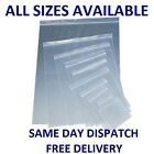 Clear Grip Seal Bags Self Resealable Poly Plastic Zip Lock Mini Bags *All Sizes*