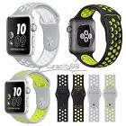 42MM Silicone Strap Buckle Watch Band With Connector For Apple Watch iWatch 42MM