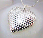 925 Sterling Silver Hundred Hearts Locket Pendant Necklace Photo Gift Box