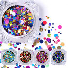 Ultrathin Nail Art Sequins UV Gel Colorful Shiny Round Decoration DIY Tips