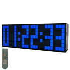 Large Big Screen Remote Led Digital Wall Clock Dual Alarm Watch Snooze Stopwatch