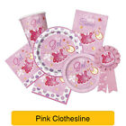 Pink Clothesline - Baby Shower PARTY RANGE (Decorations & Tableware)