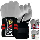 Rix Weight Lifting Wrist Wraps Bodybuilding Power Training Support Gym Straps 13
