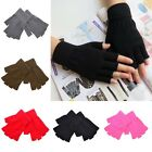 Women Men Soft Half Finger Gloves Winter Warmer Knitted Mittens Fingerless New