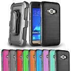 For Samsung Galaxy Express 3 Case Belt Clip Holster Brushed Protective Cover