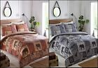 terracotta bedding sets - Safari Themed Grey Or Brown Quilt Duvet Cover Bedding Set Single Double King