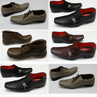 Shumaxx MENS ITALIAN look dotted CASUAL FORMAL OFFICE WEDDING dress SHOES