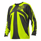 NEW TROY LEE DESIGNS SPRINT REFLEX MTB DH JERSEY DK GRAY/FLO YELL ALL SIZES