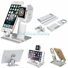 Aluminum Charging Dock Station Holder Stand Fr iWatch iPhone Apple Watch Charger