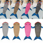 Kids Shark Mermaid Tail Fleece Blanket Snuggle-in Winter Warm Sleeping Bag Fancy