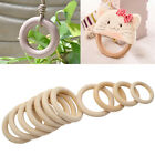 10 Pcs Wooden Round Circle Rings DIY Pendant Jewelry Hand Craft 50mm-70mm