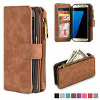 Multifunction Leather Flip Case Cover Zipper Wallet for Samsung Galaxy S7 Edge