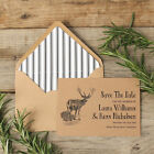 Vintage Stag Invitations and Lined Envelopes x 25