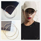 Fashion Women/Girls Gold Silver Metal Smooth Big Large Hoop Earrings 4CM - 10CM