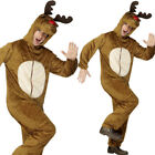 Rudolph All in One Costume Christmas Fancy Dress Adult Womens Mens Smiffys 31668