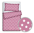 BABY BEDDING SET PILLOWCASE + DUVET COVER 2PC TO FIT COT COTBED JUNIOR BED