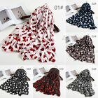 Fashion Women Long Scarf Cotton Indian Large Scarves Love Heart Ladies Shawl 136