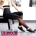 USPS Gym Womens Yoga Pants Sports Leggings Athletic Clothes Fitness Running S283