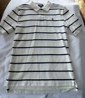 BOYS SIZE LARGE 14/16 RALPH LAUREN STRIPED COTTON  POLO SHIRT NWT