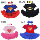 Baby Girls' Tutu Romper Dress Outfit for Birthday Halloween Costume Supergirl