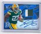 EDDIE LACY 2013 SPECTRA BLUE REFRACTOR 2 COLOR PATCH AUTO RC #32/49 PPACKERS