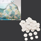 1 Set Hexagon Paper Piecing Template Quilting Patchwork Tool Hand Craft Supplies