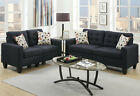 Poundex Bobkona Windsor 2 Piece Sofa and Loveseat Set