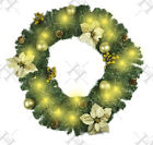 Christmas 6ft Cream &gold Decorated Light Up Led Pre Lit Garland Fireplace Decor