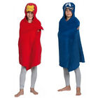 Boys  Kids Marvel Avengers Hooded Cuddle Blanket Dressing Gown Robe Beach Towel