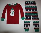 NEW Gymboree Outlet Girl Holiday Snowman Red Pajamas PJs size 3 4 5 6 7 8 10 12
