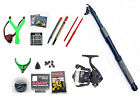 Travel Carbon Holiday Coarse fishing Tele kit Rod,Reel,floats,shot,line,catty