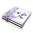 NEW Vinyl Skin for Console PS4 Slim Pro Purple Blossom Sticker Decal Cover