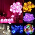 20 LED Rose Flower Fairy Wedding Party Christmas Decor String Lights Ornament