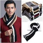 Soft Men Classic Cashmere Long Scarf Winter Warm Fringe Striped Tassel Shawl hot