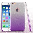 Purple Gradient Glitter Hybrid Phone Protector Cover Case for iPhone 6/6s
